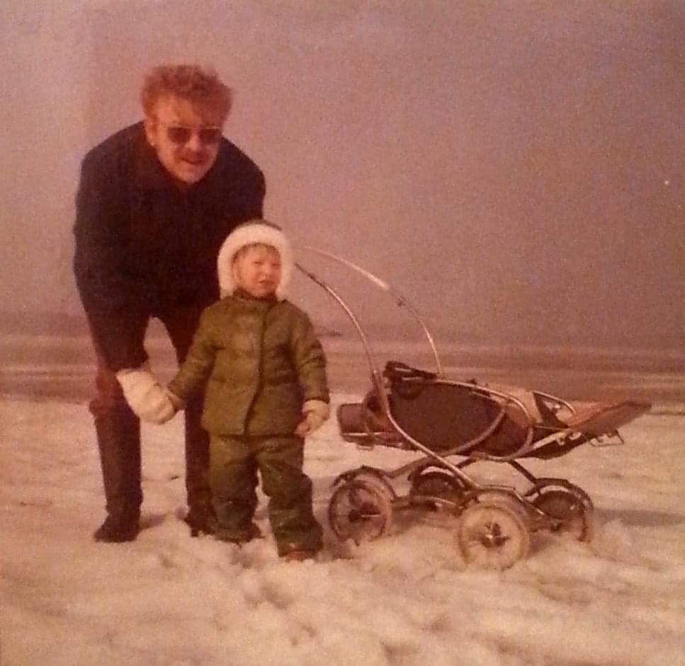 Me and my dad a long time ago.
